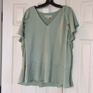 Michael Kors Mint green crepe tunic